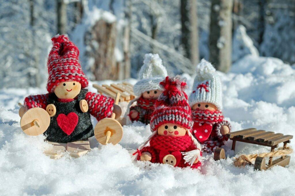 decoración de navidad madera
