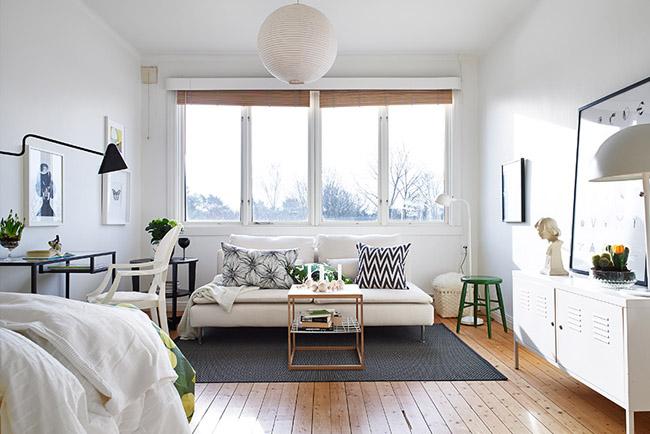 Apartamento pequeño estilo nordico Apartamento pequeño, cocina pequeña, salon pequeño, en pamplona, estilo nordico,
