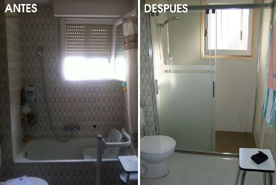 Cambiar bañera, cambiar bañera por ducha, plato de ducha, mampara, cambiar bañera por plato de ducha