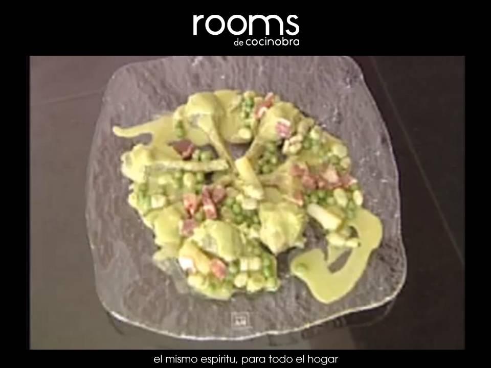 menestra de verduras con jamon confitado