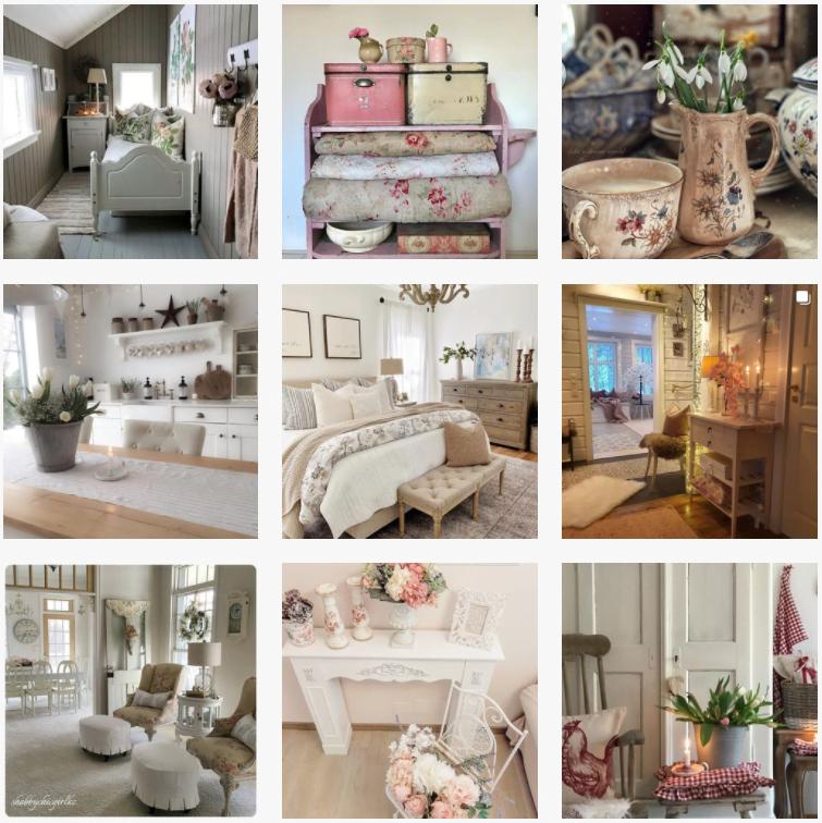 tendencias en decoración de interiores para 2021 shabby chic Instagram