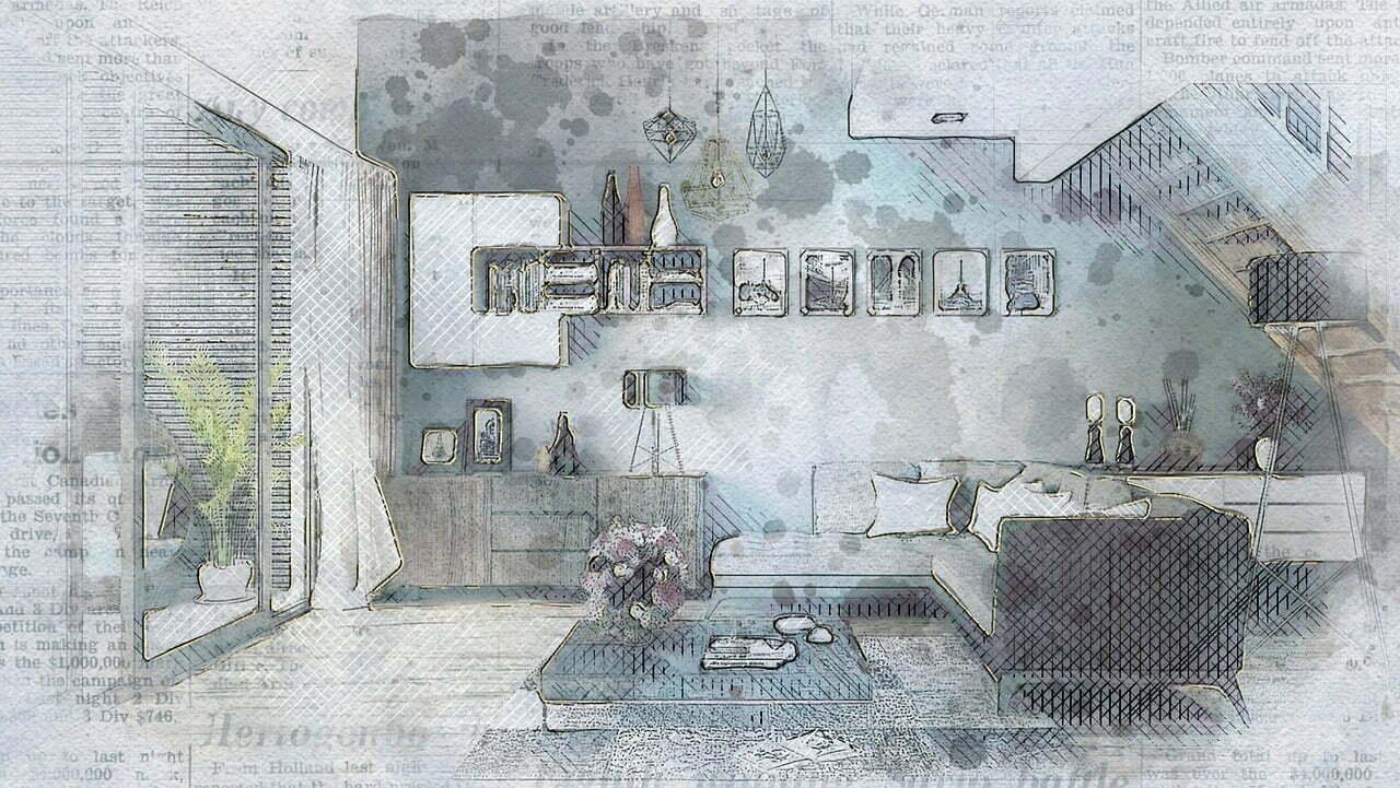 tendencias de decoración de interiores para 2021 boceto